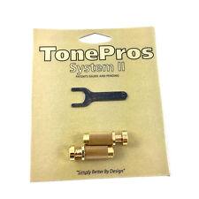 TonePros SNS1 Gold Locking SAE Stop Tailpiece Studs USA Gibson® TP-0456-003