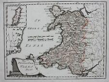 PRINCIPALITY OF WALES, original antique map.Von Reilly c.1790