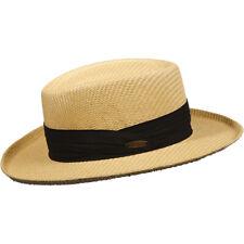 PANAMA JACK ORIGINAL * MENS NEW GAMBLER HAT S/M * TOYO STRAW SUN SHADY GOLF UPF