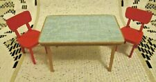 More details for vintage - 16th scale - lundby  - kitchen table & 2 red chairs