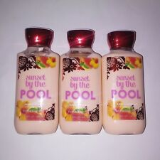 Set of 3 Bath and Body Works Lotion Sunset By The Pool Vitamin E Shea Full Size