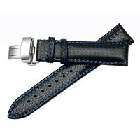 22mm Carbon Fiber Leather Watch Band Strap For Tag Heuer Monaco CAW2111 FT6021