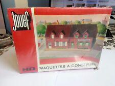 """maquette jouef réf 1982 bloc 2 immeubles """"brique"""" sous blister train HO"""
