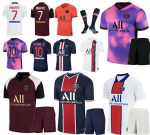 Kids Boys Youth Football Kit Sportswear Sport Jersey Top Shorts Socks Outfits