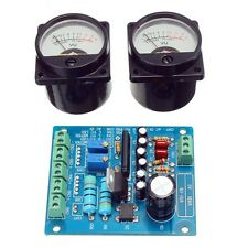 2Pcs VU Meter Vumeter Warm Back Light Recording + Audio Level Amp & Driver Board