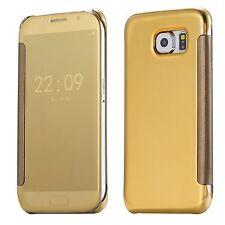 Etui Housse Coque Clear View Cover miroir Doré Gold pour SAMSUNG GALAXY S7 edge