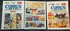 Lot of 3 Comics Revue Magazines # 172 175 186 Modesty Blaise Gasoline Alley Etc