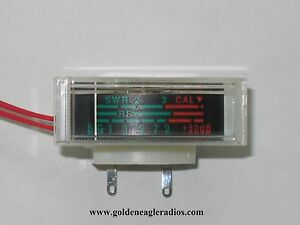 Cobra 148 / Grant / Jackson OEM Meter with SWR scale with Lamp included