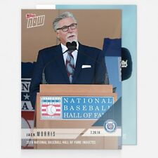 2018 TOPPS NOW #527 2018 NATIONAL BASEBALL HALL OF FAME INDUCTEE - JACK MORRIS