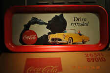 "COCA-COLA   "" DRIVE REFRESHED ""  VINTAGE METAL SODA TRAY    FRESH OUT OF THE BOX"