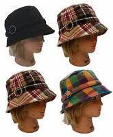 Ladies Women Dress Church Warm Packable Fedora Bucket Fashion D & Y Hat