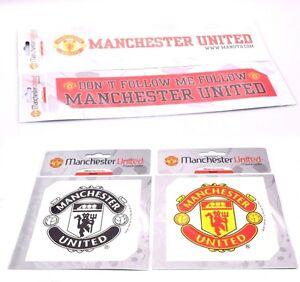 Manchester United Football Club Car Window Sticker Man U MUFC Square Strip Crest