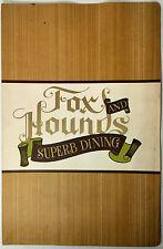 1966 Original Huge Vintage Dinner Menu & Wine List Fox & Hounds Santa Monica Ca