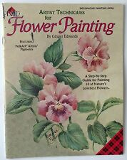 Artist Techniques for acrylic Flower Painting step by step Ginger Edwards 1998