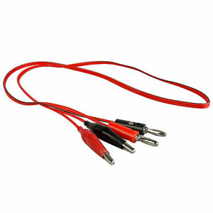 Alligator Clips Connectors for Test Leads Red and Black 36mN*ss 50 x Crocodile