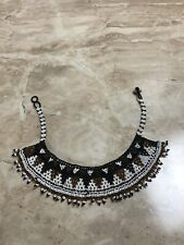 Southwestern Native American Style black Brown beaded choker necklace Handmade