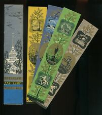 Soviet Russian Bookmark Set of 4 in Sleeve Souvenir Tourism 1963 Historic Sites