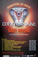 MONSTERS OF ROCK TOURPOSTER 2003 WHITESNAKE GARY MOORE TOURPLAKAT KONZERTPLAKAT