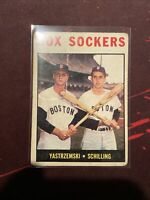 1964 Topps baseball card #182 Sox Sockers / Yastrzemski see pics