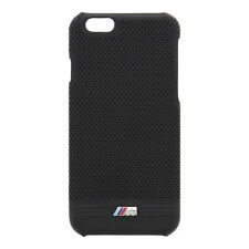 BMW M Embossed Line PU Leather Black Hard Case for iPhone 6 Plus / 6s Plus 5.5