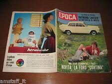EPOCA 1962/624=FORD CORTINA 1200=SORAYA=TERREMOTO IRAN=SYLVA KOSCINA=SUE LYON=