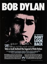 BOB DYLAN - DON'T LOOK BACK__Original 1986 print AD video promo__D.A. Pennebaker