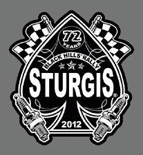 SPADE RACE FLAG 2012 STURGIS RALLY  BIKER  4 INCH  PATCH