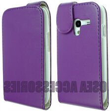 Per Samsung Galaxy Ace 2 i8160 PELLE CUSTODIA COVER Flip Custodia Wallet FIT SKIN