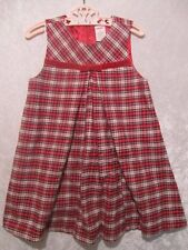 """Gymboree """"Holiday Friends"""" Pleated Red Plaid Jumper Dress, 5T"""