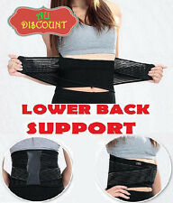 Lumbar Lower Back Support Belt Brace Strap Pain Relief Posture Waist Trimmer