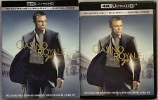 JAMES BOND 007 CASINO ROYALE 4K ULTRA HD BLU RAY 2 DISC SET + SLIPCOVER SLEEVE