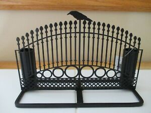 NEW- Yankee Candle RAVEN NIGHT GATE Metal Double Taper Holder - HALLOWEEN!!