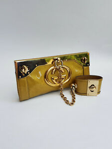 GUCCI Bag. Authentic Gucci Vintage Gold Clutch Bag with a cuff