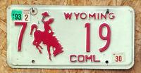 """Original Wyoming """"Cowboy Rot"""" US Nummernschild"""