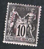 TYPE SAGE N°89  Oblitéré cachet à  date des imprimés( rouge)   CV : 10 €