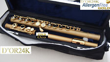 Flauta oro 24 kt 999,9 jabones oro pl flute oro, Open holes