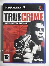 COMPLET jeu TRUE CRIME STREETS OF LA sur playstation 2 sony PS2 game juego spiel