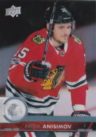 17-18 Upper Deck Artem Anisimov Clear Cut Blackhawks Clearcut Acetate 2017