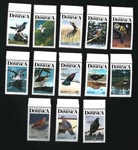 Dominica 1987 birds definitive  SCOTT No. 990B-1003B  Perf.12      I201807