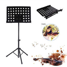 Music CONDUCTOR Stand Sheet Metal Tripod Holder Folding Stage black holder