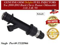 1/unit Fuel Injector 2002-2005 3.4L V6 Buick Rendezvous Genuine Delphi #17123966
