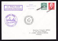 Denmark stamps on TAAF 1978 postmark MS Thala Dan J Lauritzen Lines cachet cover