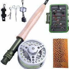 5WT Fly Rod And Reel Combo & Fly line & Fly Fishing Tool & Fly Box Trout Flies