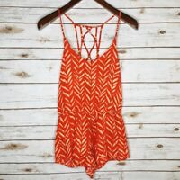 Dolce Vita Women's Size XS Orange Sleeveless Romper NWT