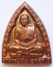 Amulette bouddhiste moine en laiton cuivré chance prospérité réussite bouddha