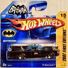 HOT WHEELS 2007 FIRST EDITIONS BATMAN TV BATMOBILE #15/36 SHORT CARD W+