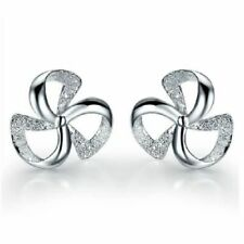 Womens Earrings Silver Plated Round Stud Studs Crystal Jewellery Fashion Ear 14