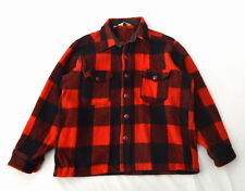 WOOLRICH Vtg Red & Black Plaid Wool Flannel Hunting Winter Work Shirt Jacket M