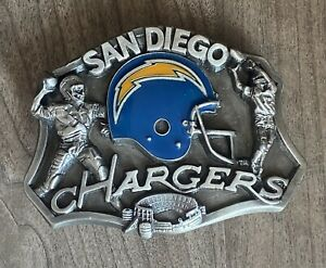 Vintage San Diego Chargers Belt Buckle 1986 Siskiyou Limited Edition NOS