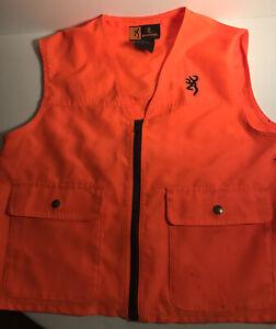 Browning Orange Vest Junior Size Large Preowned